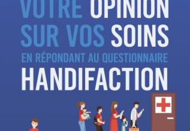 Affiche de promotion du questionnaire Handifaction